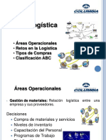 ORGANIZACIÓN de PRODUCCIÓN de a & B – LOGÍSTICA 2. Areas Operacionales, Retos, Tipos de Compras, Clasificación ABC