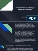 Contrato Individual de trabajo y ley de retiro voluntario.pptx