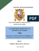 La imputación objetiva en la comisión por omisión (tesis)