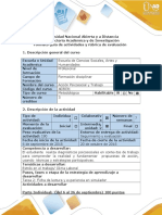 Guía de Activdades Tarea 2- Ficha de Lectura y Experiencia en Simulador