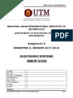 Assignment 2 - 20172018