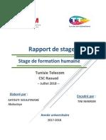 Rapport Stage de Formation Humaine SAYOUTI SOULEYMANE Abdoulaye Tunisie Télécom