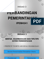 Inisiasi 3 Bentuk, Kelembagaan, Tipe Sistem Pemerintahan