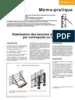 Stabilisation Banches Batiment Contrepoids Lest