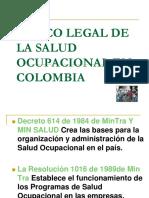 Marco Legal de La Salud Ocupacional en Colombia
