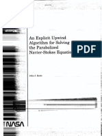 An Explicit Upwind Algorithm for Solving the Parabolized Navier Stokes Equations