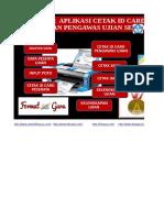 Master Aplikasi Cetak Id Card Peserta Dan Pengawas Ujian