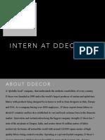 Internship at D'Decor
