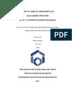 Cover Manajemen Industri Smt. 4