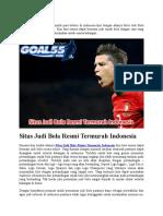 Situs Judi Bola Resmi Termurah Indonesia