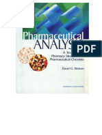 Pharmaceutical Analysis a Textbook for Pharmacy Students and Pharmaceutical Chemists - Watson - Churchill 1999