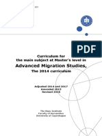Advanced Migration Studies KA 2014 Adjusted 2017 Amended 2015 Revised 2018