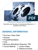 1 Introduction to Manufacturing Processes