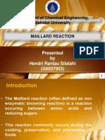 Maillaard Reaction Presentation