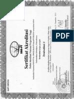 Sertifikat Akreditasi SKM