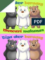 Cerita Kanak - Tiga ekor beruang mencari makanan