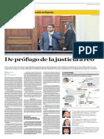 Yolanda Vaccaro en El Comercio Sobre Detención Cesar Hinostroza