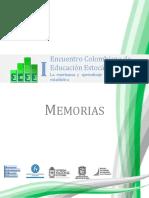 Encuentro Colombiano de Educación Estocástica La Enseñanza y Aprendizaje de La Probabilidad y La Estadística MEMORIAS