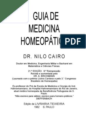 Guia Homeopático Dr Nilo Cairo - Em 13 10 2018