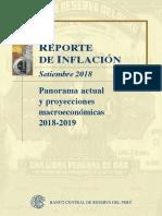 Reporte de Inflacion Setiembre 2018