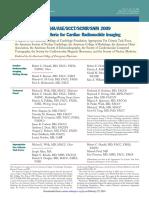 AUC for Cardiac Radionuclide Imaging