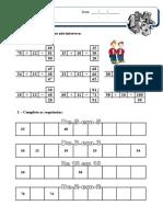 Ficha de Matemática 2º ano