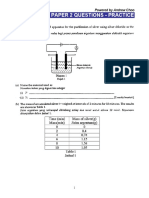 Science Paper 2 Questions Practice