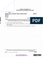 SPM PHYSICS Paper 1 2015