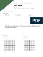 Algebra 2 – Chapter 3 Test Name ______________________________