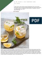 5 Deliciosas Maneiras de Tornar a Sua Limonada Numa Espectacular Bebida de Verão