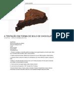 A Tentação Em Forma de Bolo de Chocolate _ Sobremesas de Portugal