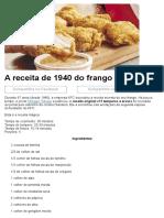 AReceita de1940Do Frango DoKFC