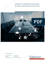 Information Technology Governance the Role of the Board of Directors