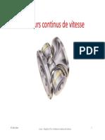 10_variateurs Continus de Vitesse