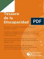 Tesauro de La Discapacidad-OED