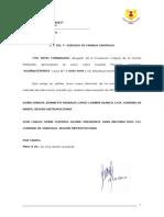 Señala Domicilio Acuña Cespedes