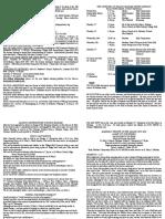 notice sheet 21st october 2018