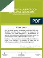 Concepto y Clasificacion de La Investigacion 09-06-17