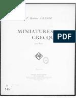 Pedro Humberto Allende - Miniaturas Griegas
