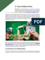 Menang Game Texas Holdem Poker
