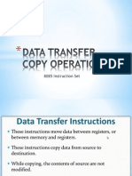 Data Transfer Copy Operation in 8085