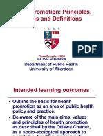 Health Promotion Principles Values