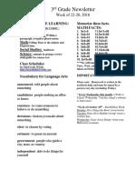 newsletter for oct