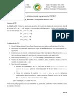 Chapitre n°01__TP n°01__L2-Chimie__Méthodes Numériques et Programmation__S3__2014-2015