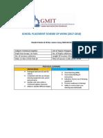 scheme of work sp3 tg 1st years