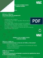 Agenda III Congreso 3 Octubre