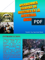 Aplicaciones Tecnicas de Muestreo en La Industria Minera PARA HUGO