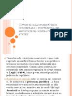 1. Constituirea Societatilor Comerciale