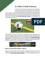 Situs Judi Bola Online Terbaik Indonesia