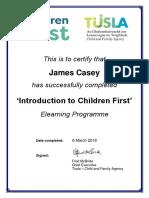 tusla certificate